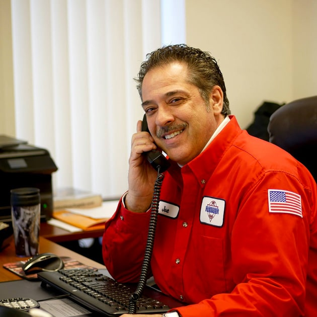A Reimer manager answers the phone to help a local customer with their HVAC repairs in Buffalo, NY.