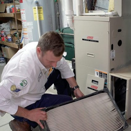 Our technician completes the installation of a new hybrid system in this Tonawanda home.