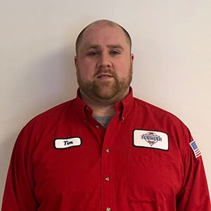 Tim Burrow, Lead Installer for Reimer Home Services.