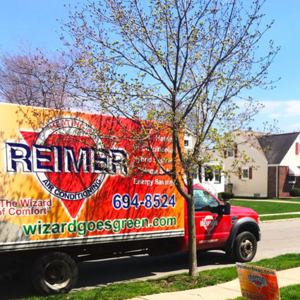 A Reimer service vehicle in front of your home is a great sign that everything is taken care of.